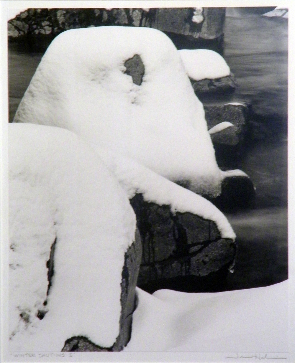 "Jerome Hawkins    Winter Shut-Ins I  , 1995  black and white photo, 1/1  29 1/8"" x 25 1/8"""