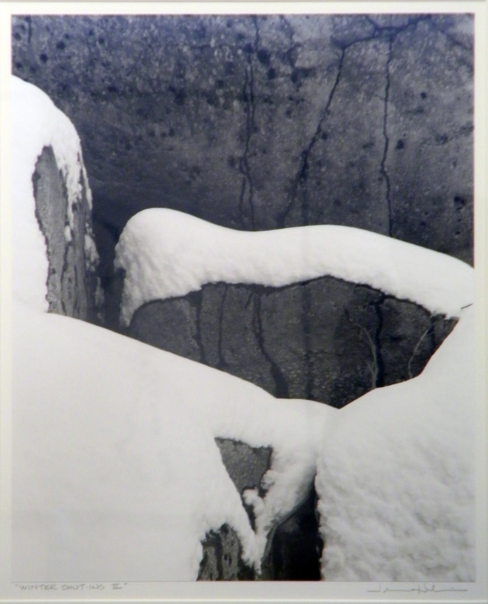 "Jerome Hawkins Winter Shut-Ins II, 1995 black and white photo, 1/1 29 1/8"" x 25 1/8"""