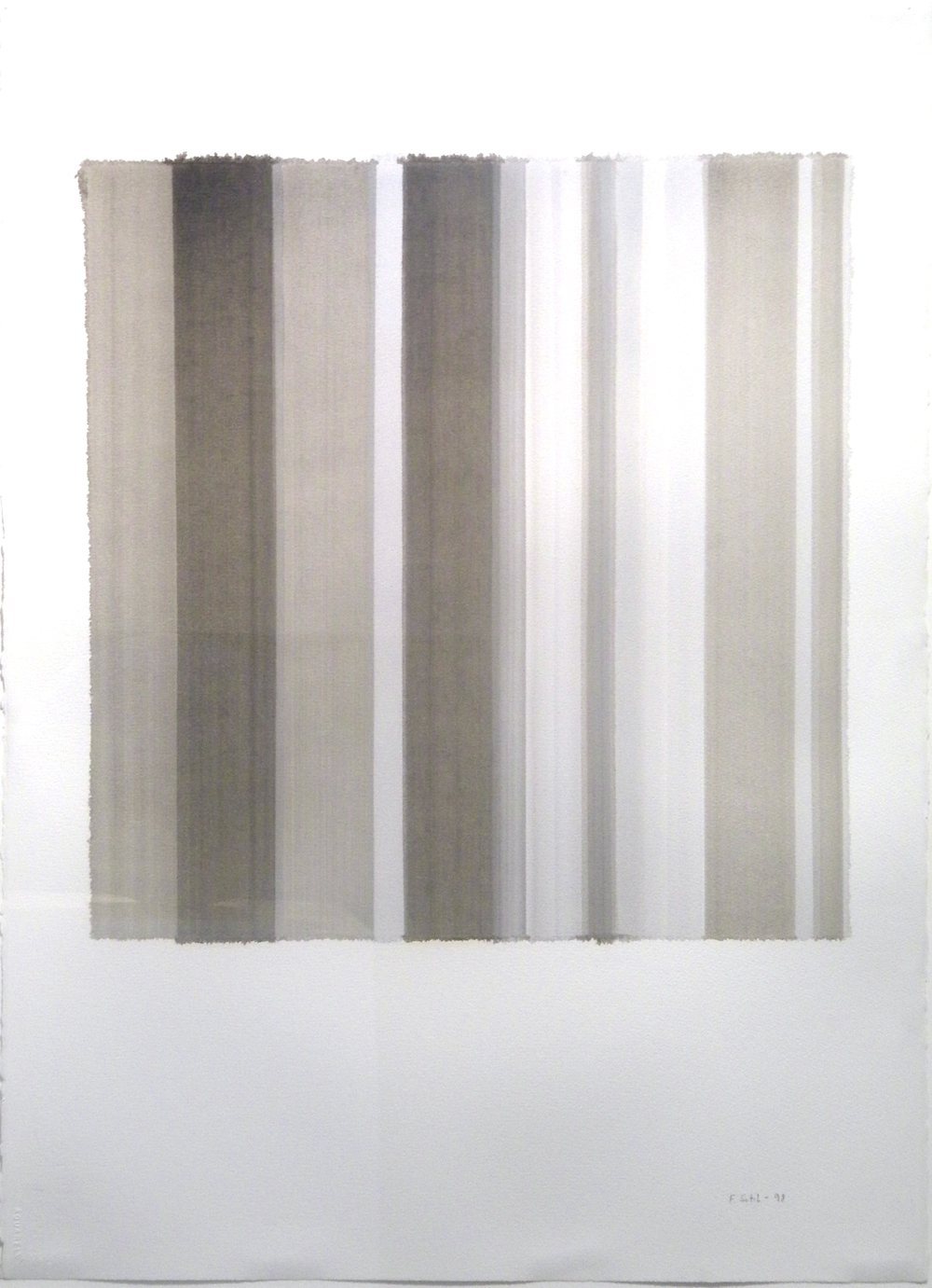 "Francisca Sutil    Untitled - Spaces  , 1998  oil a l'essence on paper  33 3/4"" x 25 7/8"""