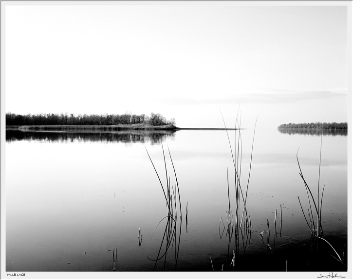 """Mille Lacs,"" 1999  black and white photograph  25 1/8"" x 29 1/8"""