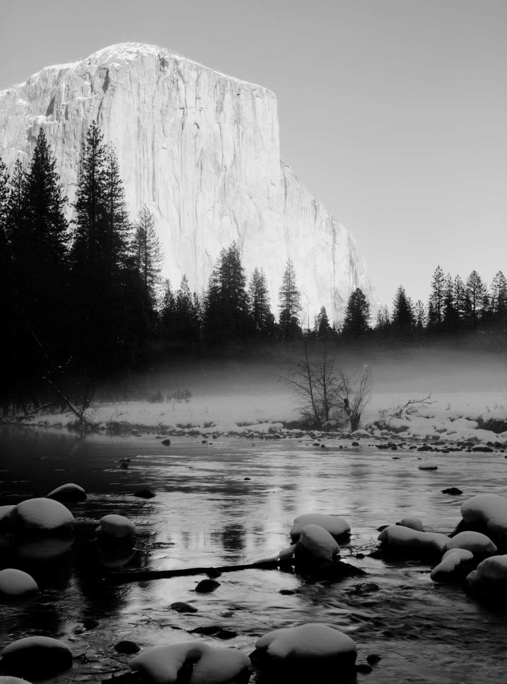 """El Capitan,"" 2006 black and white photograph, print #1 35 1/8"" x 28 1/8"""