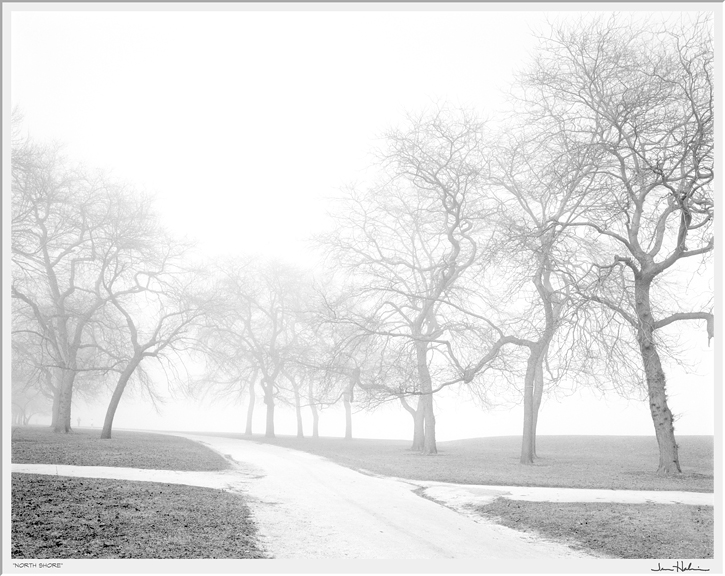 """North Shore,"" 2012 black and white photograph, print #14 31 1/8"" x 35 1/4"""