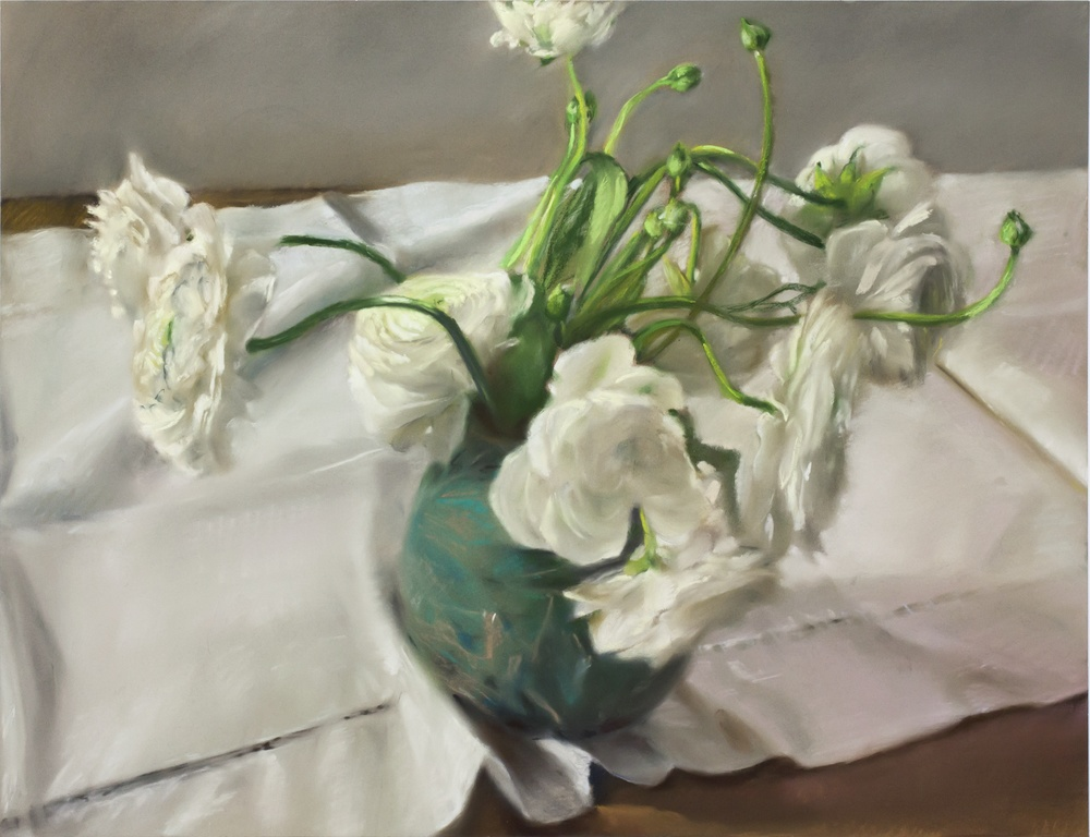 "Mary Joan Waid, ""White,"" 2013  pastel on paper  30 1/2"" x 36 1/2"""