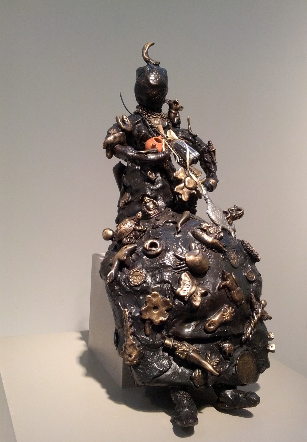 "Claudia DeMonte, ""Buona Fortuna,"" 2014  bronze, ed. of 3  18 3/4"" x 11 1/2"" x 8"""