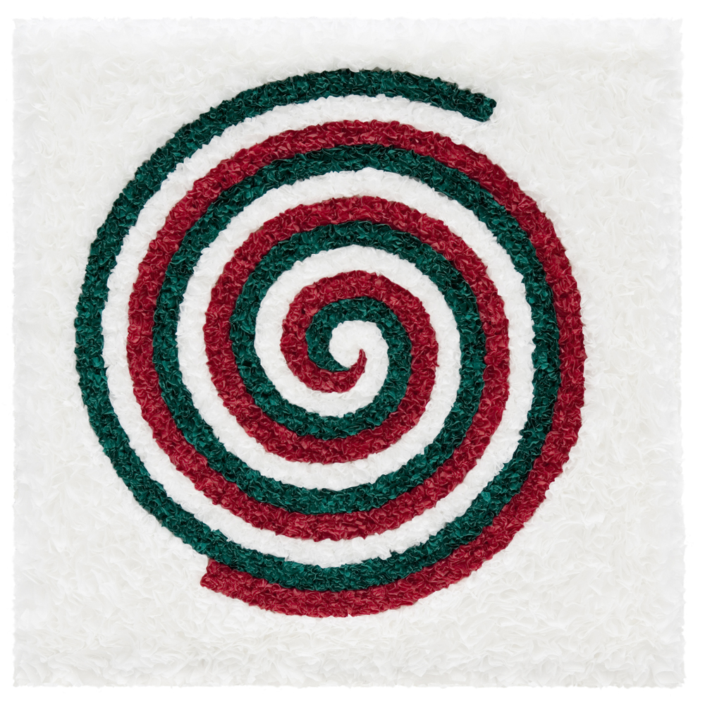"Lore Bert, ""Italy (Spirals 2),"" 2008  object with Japanese paper  22"" x 22"""
