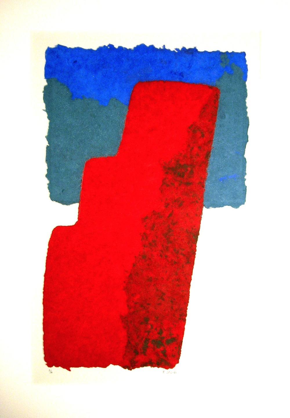 "Francisca Sutil, ""Tower,"" 1986 handmade paper multiple, AP 30 1/2"" x 21 1/2"""