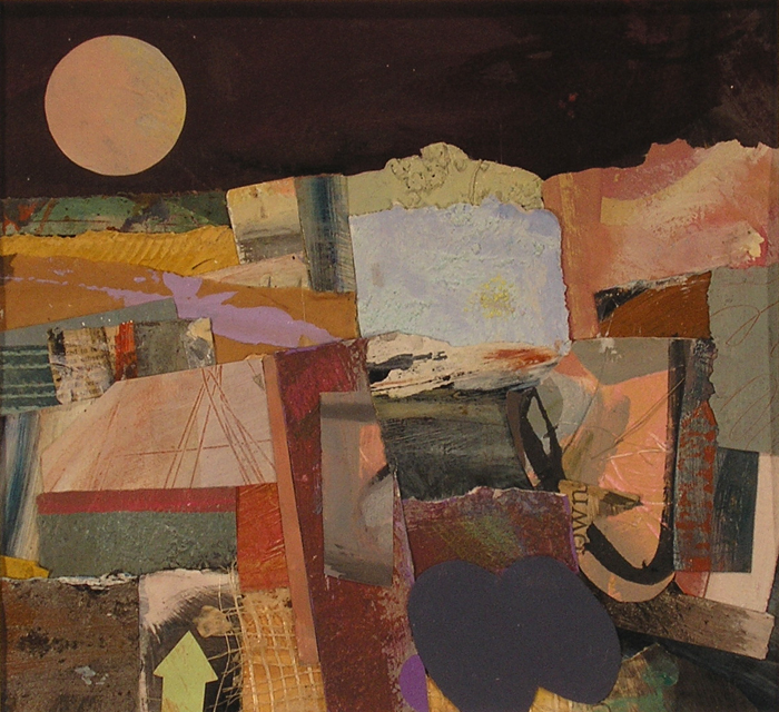 "Janet Sorokin, ""Dark Day,"" 2004 mixed media 19 3/4"" x 20 3/4"""