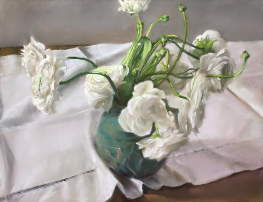 "White, 2013 pastel on paper 30 1/2"" x 36 1/2"""