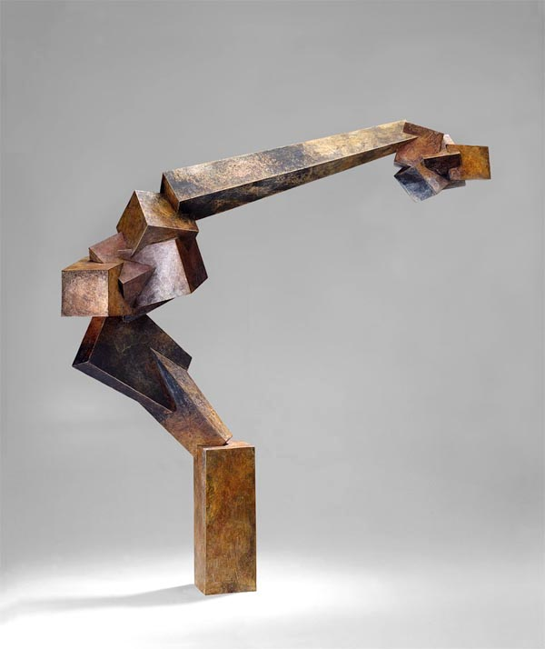 "Bruce Beasley, ""Foray,"" 1993 cast bronze, 4/9 31"" x 29"" x 8"""