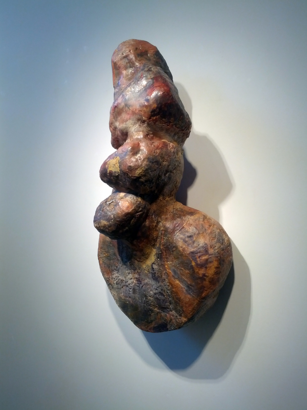 "Venus  , 1989  wood, wax, epoxy resin, fiberglass  30"" x 14"" x 12"""