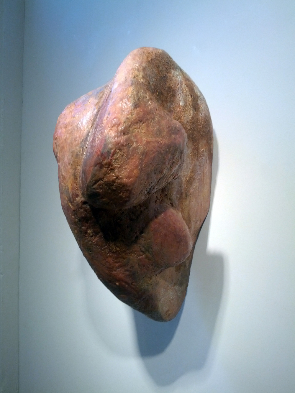 "Rune, 1990 wood, wax, epoxy resin, fiberglass 22"" x 11"" x 18"""