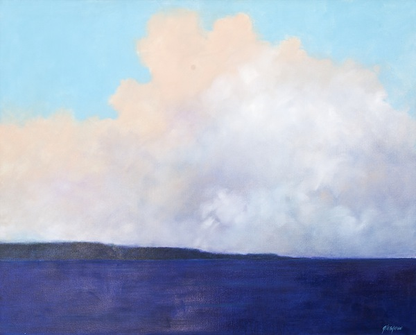 "Ellen Glasgow, ""The Callawassee (SC),"" 2014      oil on linen      48"" x 60"""