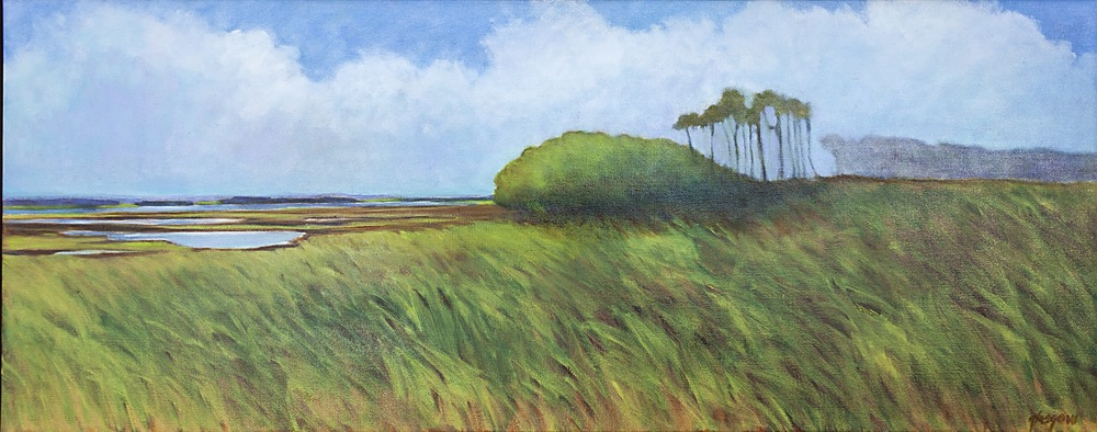 """Morning Fog, Outer Banks,"" 2014 oil on linen 25 1/4"" x 61 1/4"""