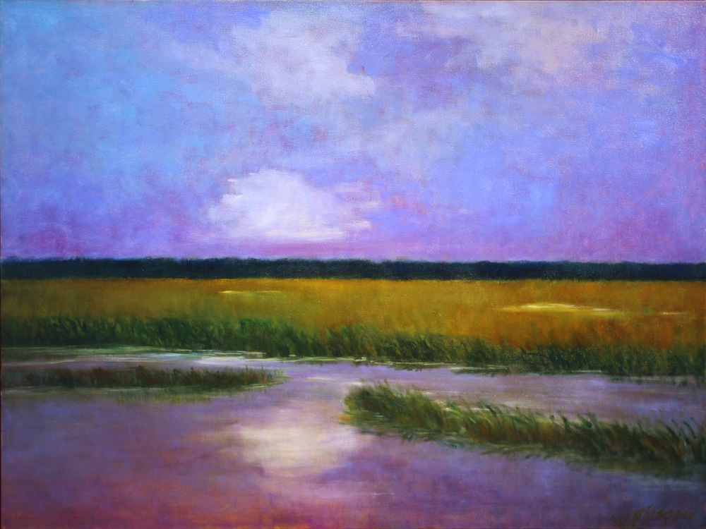 """Carolina Marsh,"" 2016 oil on canvas 37"" x 49"""