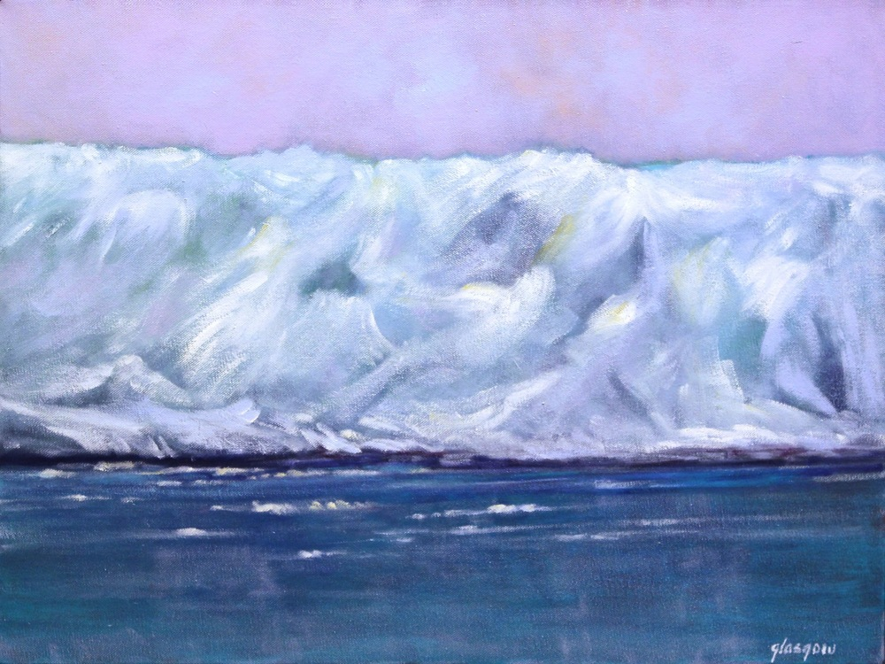"""Hubbard Glacier II,"" 2008 oil on linen 19"" x 25"""