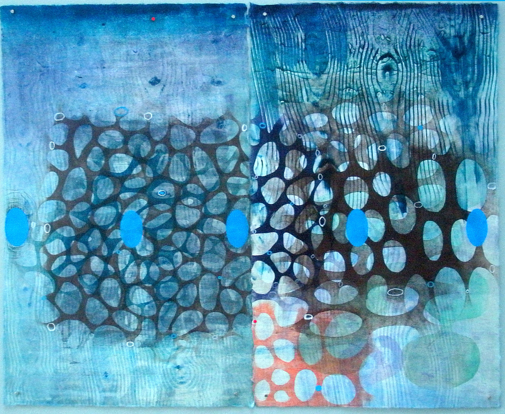 "Karen Kunc (BIO) ""Pathos,"" 2014 monoprint and mixed media AP/3 23 1/8"" x 26 1/8"""