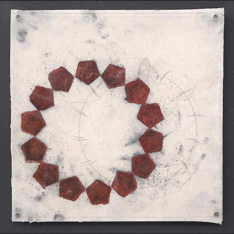 "Annette Morriss     (BIO)   ""Untitled #22,"" 2008  mixed media on canvas  10"" x 10"""