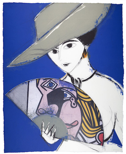 "Manolo Valdés   ""Pamela III,"" 2013  etching with collage 32/50 47 1/4"" x 37 1/2"""