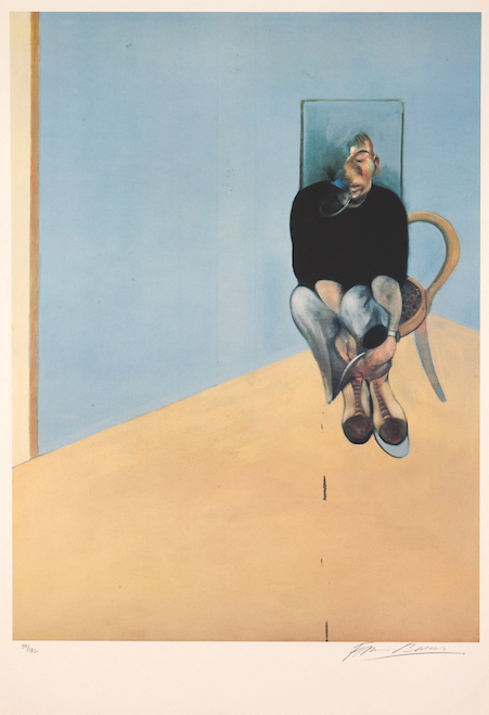 "Francis Bacon ""Study for Self Portrait 1982,"" 1984 offset lithograph 10/182 38 1/8"" x 27 5/8""  Francis Bacon at Guggenhein Bilbao"