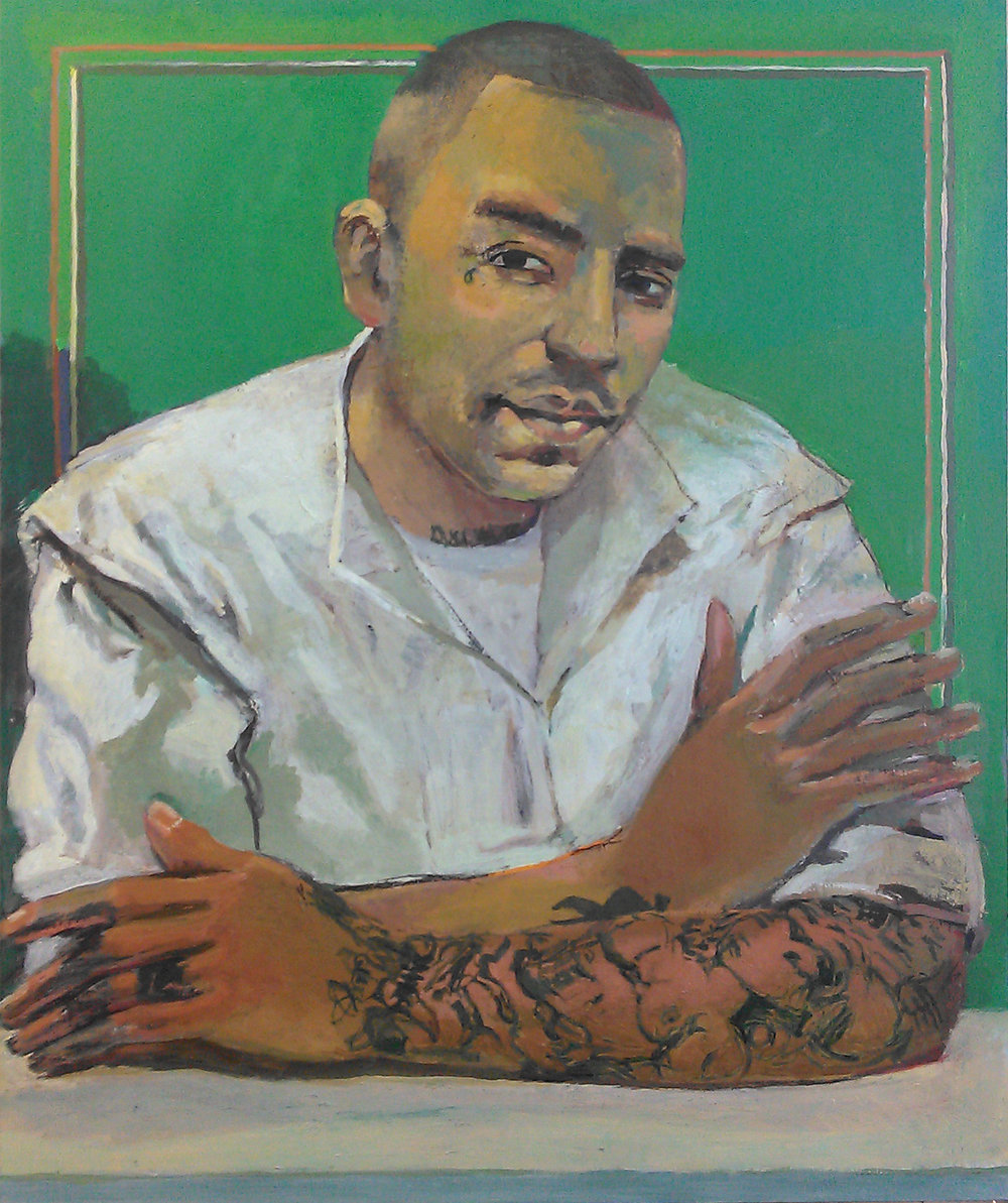 "Peter Charlap (BIO) ""Robert Gene Garza,"" 2013 oil on panel 24"" x 20"""