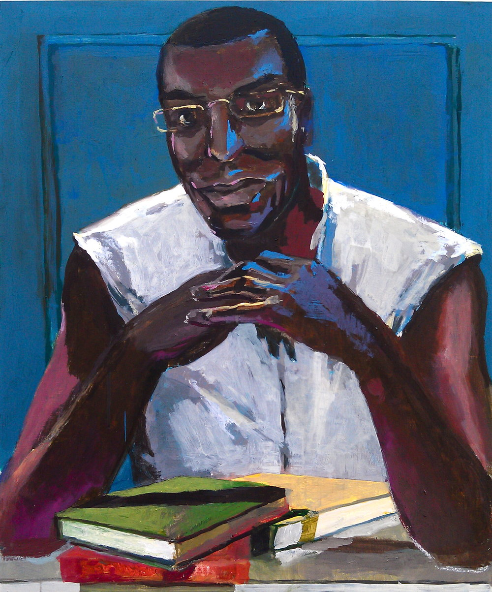 "Peter Charlap (BIO) ""Reginald Blanton,"" 2013 oil on panel 24"" x 20"""