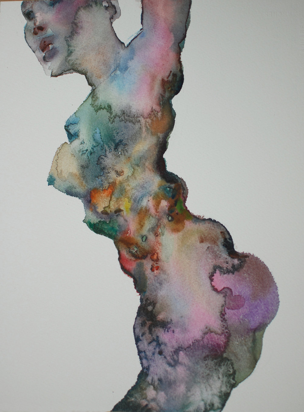 "Shanlin Ye   ""Untitled,"" 2016 watercolor on paper  14 1/4"" x 10 7/8"""