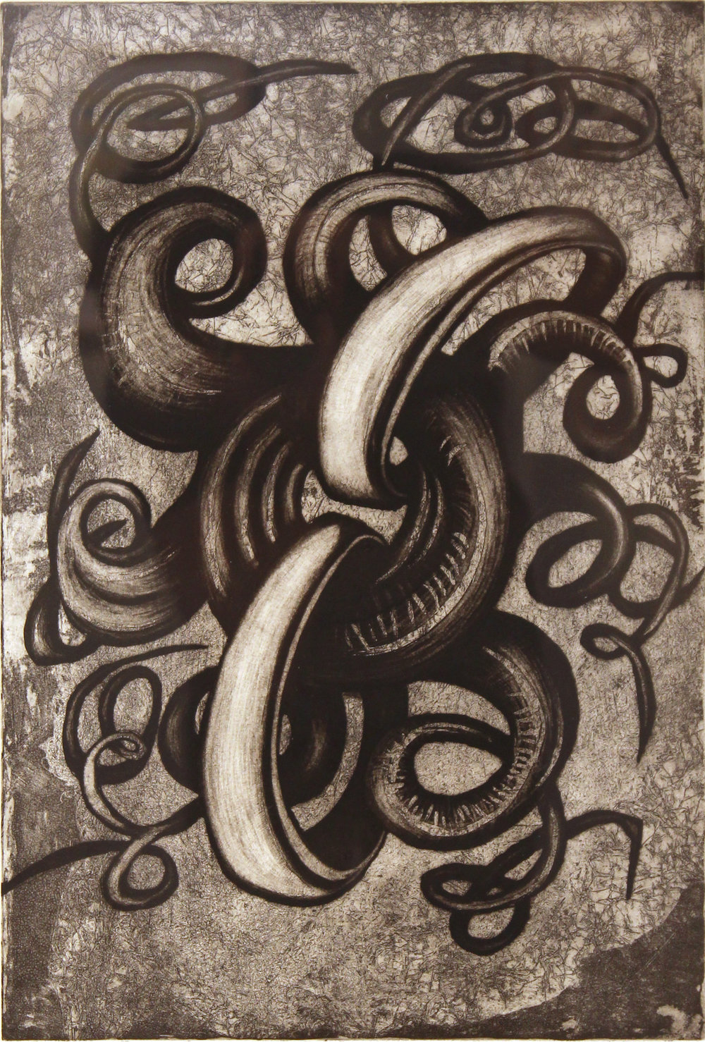"Close the Loop,   1996   etching 3/25  27"" x 21"""