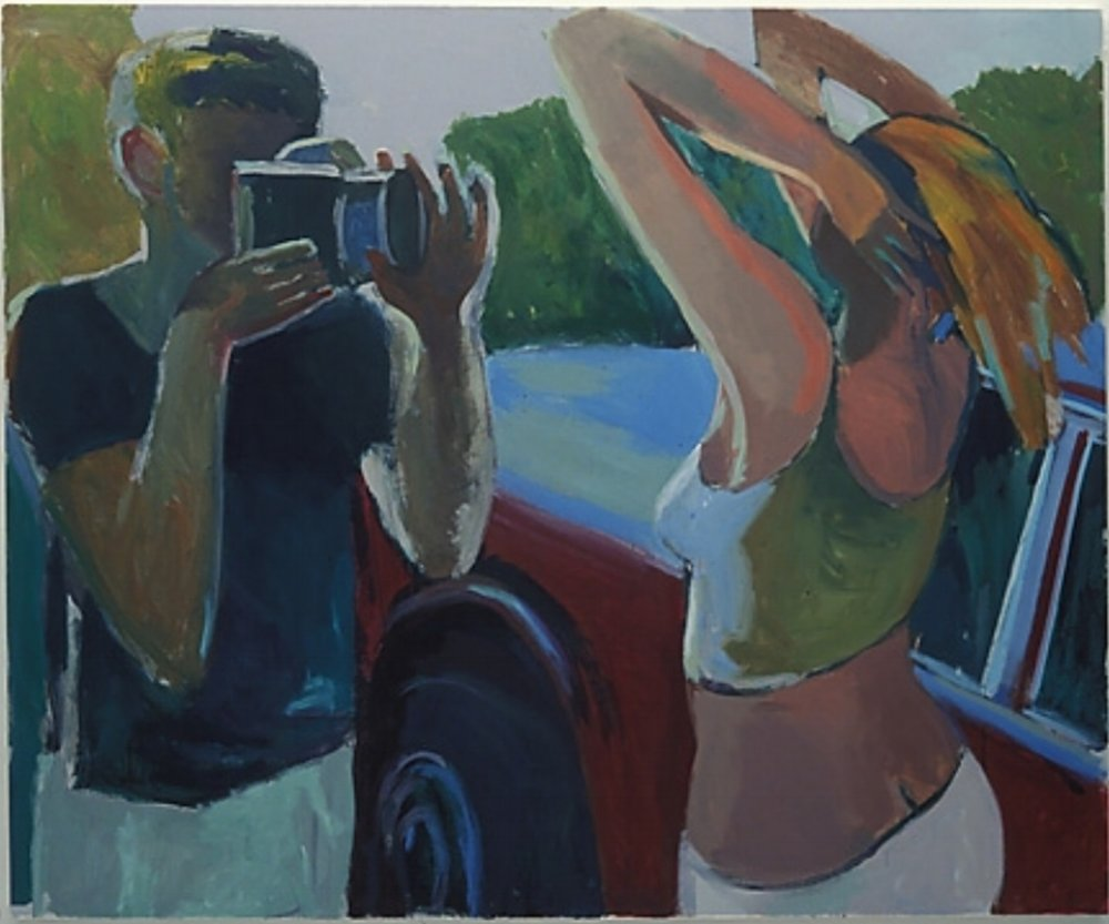 "Peter Charlap,  Trio , 2003, oil on canvas, 69 1/2"" x 84"""