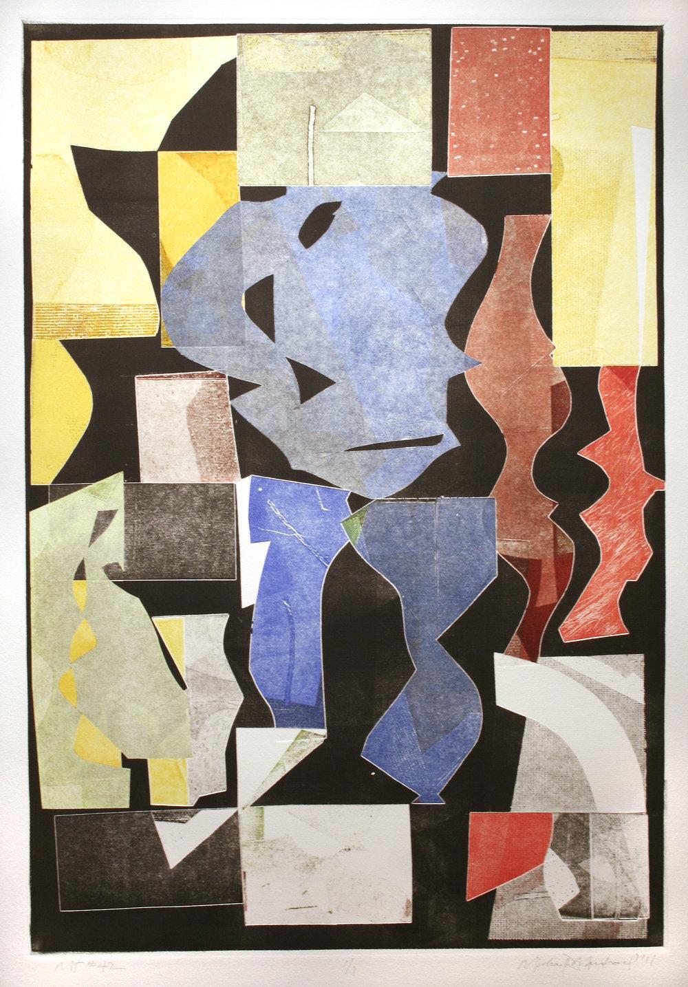 "Michael Marshall   (BIO) ,   MT #42  , 2011, mono print, 33"" x 25"""