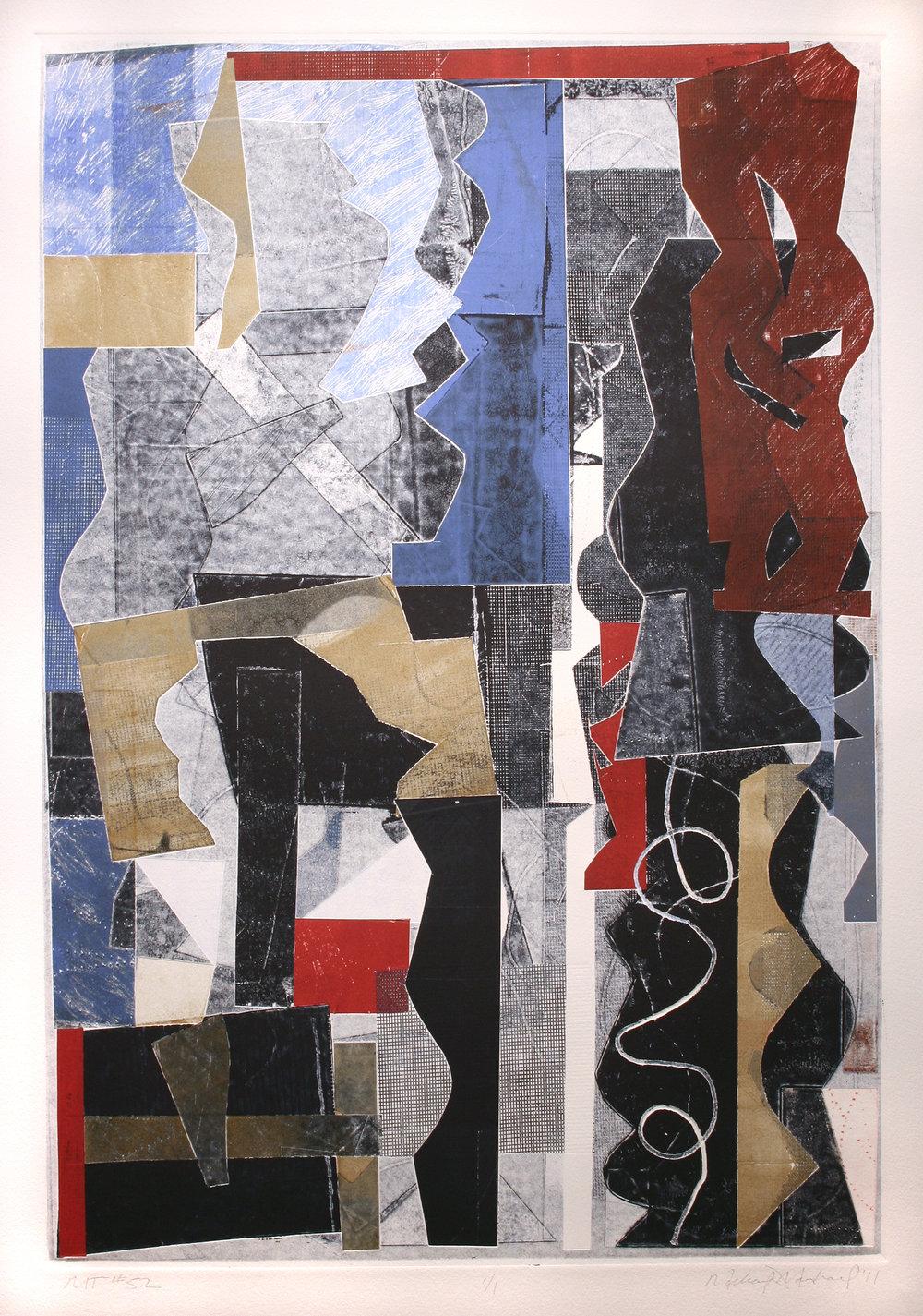 "Michael Marshall   (BIO) ,   MT #52  , 2011, mono print, 33"" x 25"""