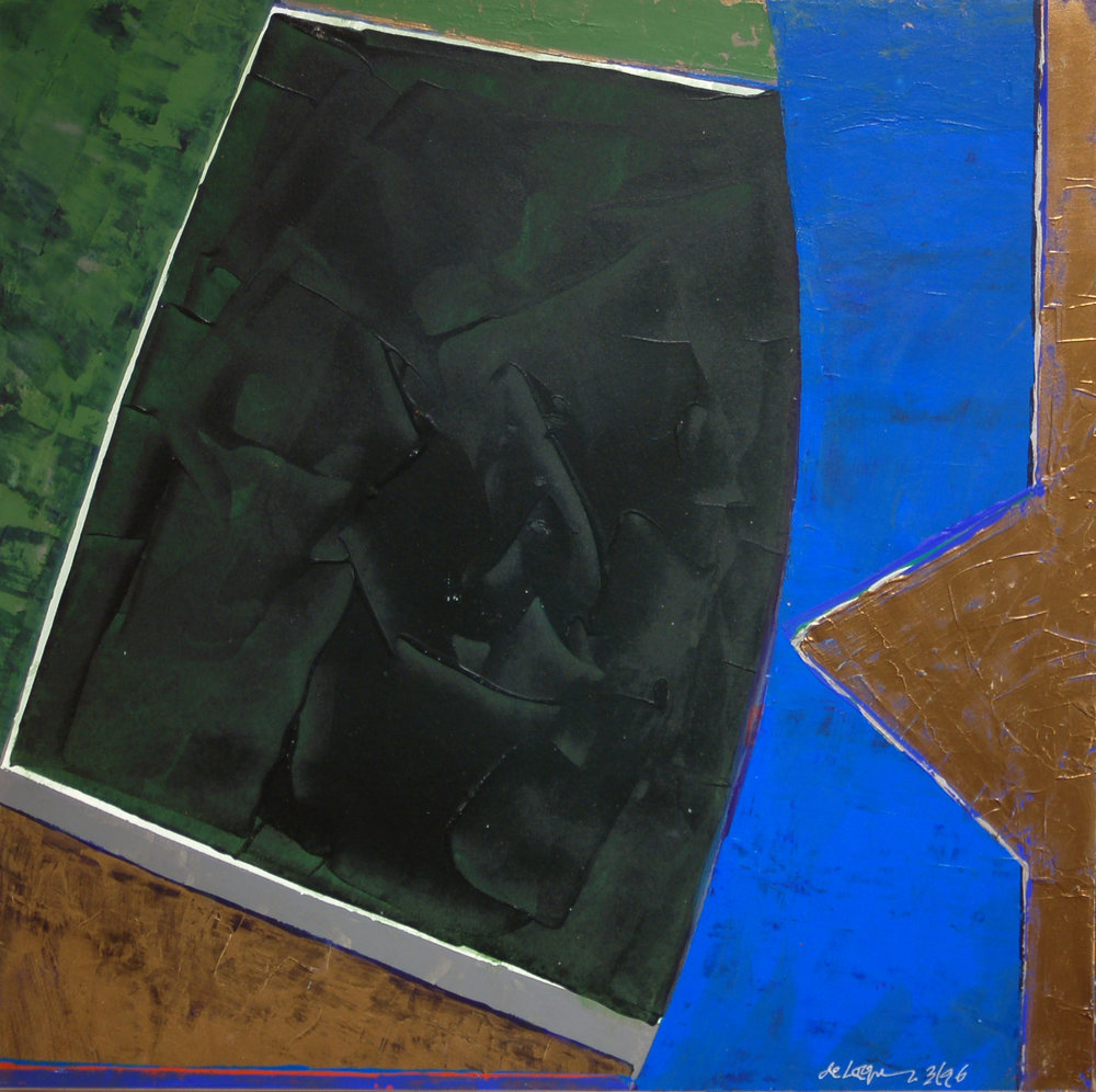 "Willem de Looper    (BIO) ,   Color Music #4  , 1996, acrylic on panel, 19"" x 19"""