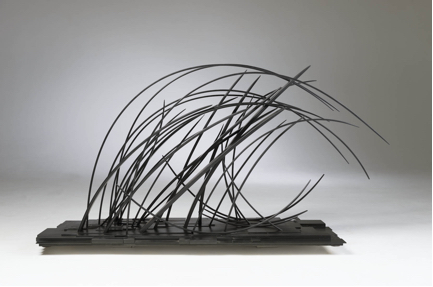 "John Schwartzkopf  (BIO) ,   The Wave  , 2012, paperstone, 22"" x 55"" x 19 1/2"""