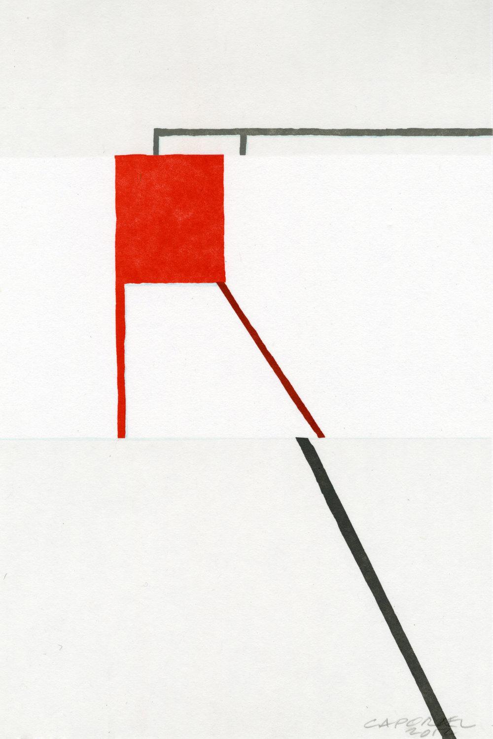 "Suzanne Caporael  (  BIO)    ""Texture,"" 2013  relief 8/12  17 5/8"" x 13"""