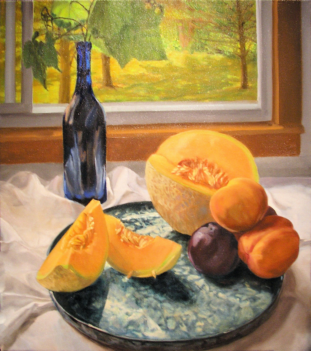 "Mary Joan Waid(BIO), Voluptuous, 2002, oil on canvas, 33 1/2"" x 29 1/2"""