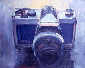 "Peter Charlap(BIO),Into the Dark, 2003, oil on canvas, 17"" x 21"""
