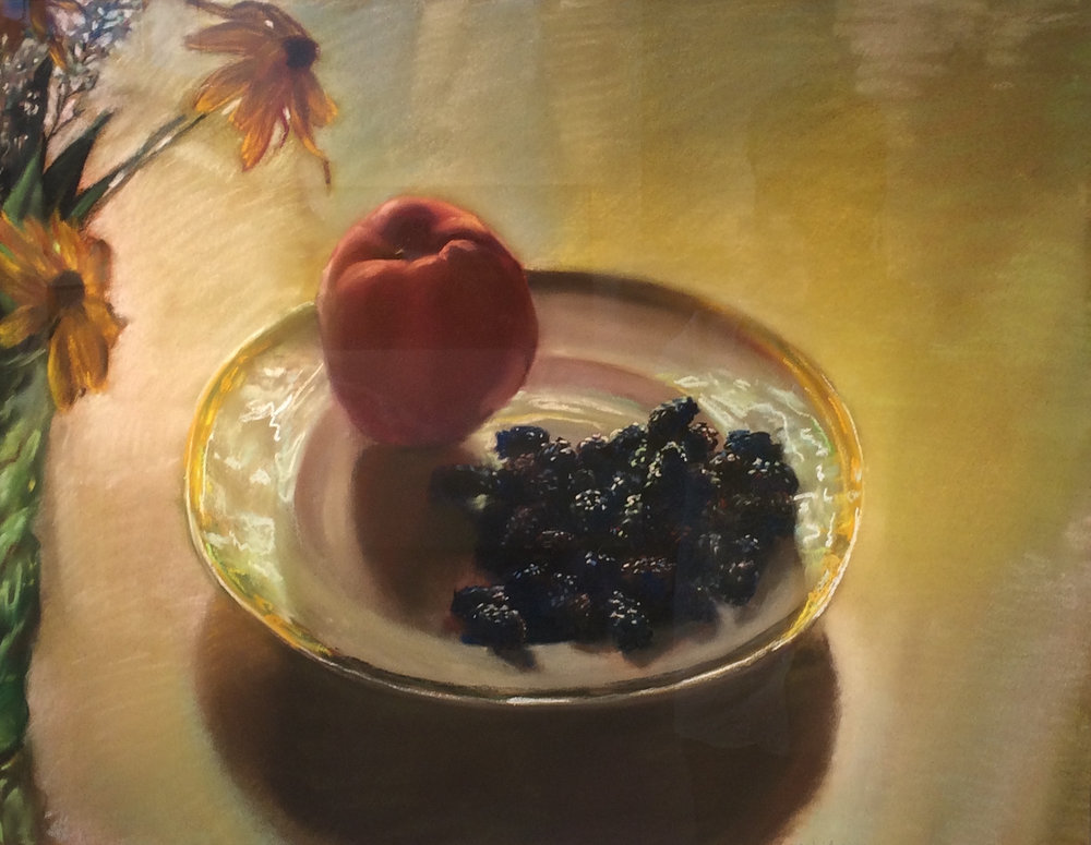 "Mary Joan Waid(BIO), Vermont Sun, 2009, pastel on paper, 28"" x 34 1/8"""