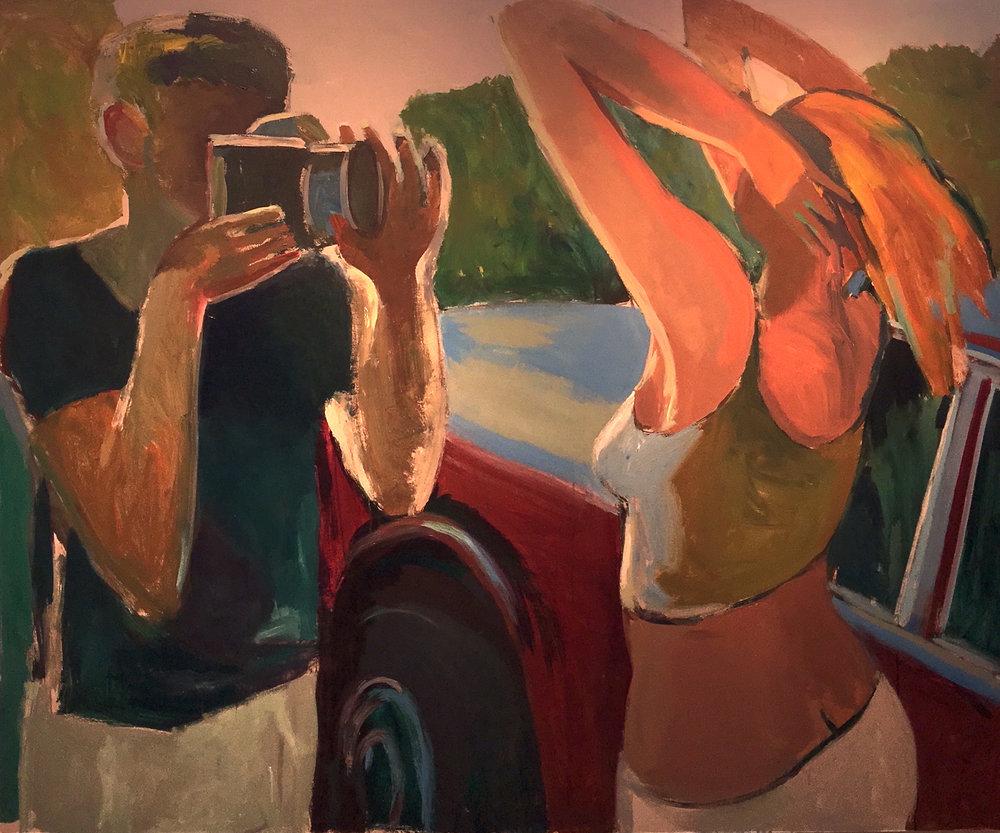 "Peter Charlap(BIO),Trio, 2003, oil on canvas, 69 1/2"" x 84"""
