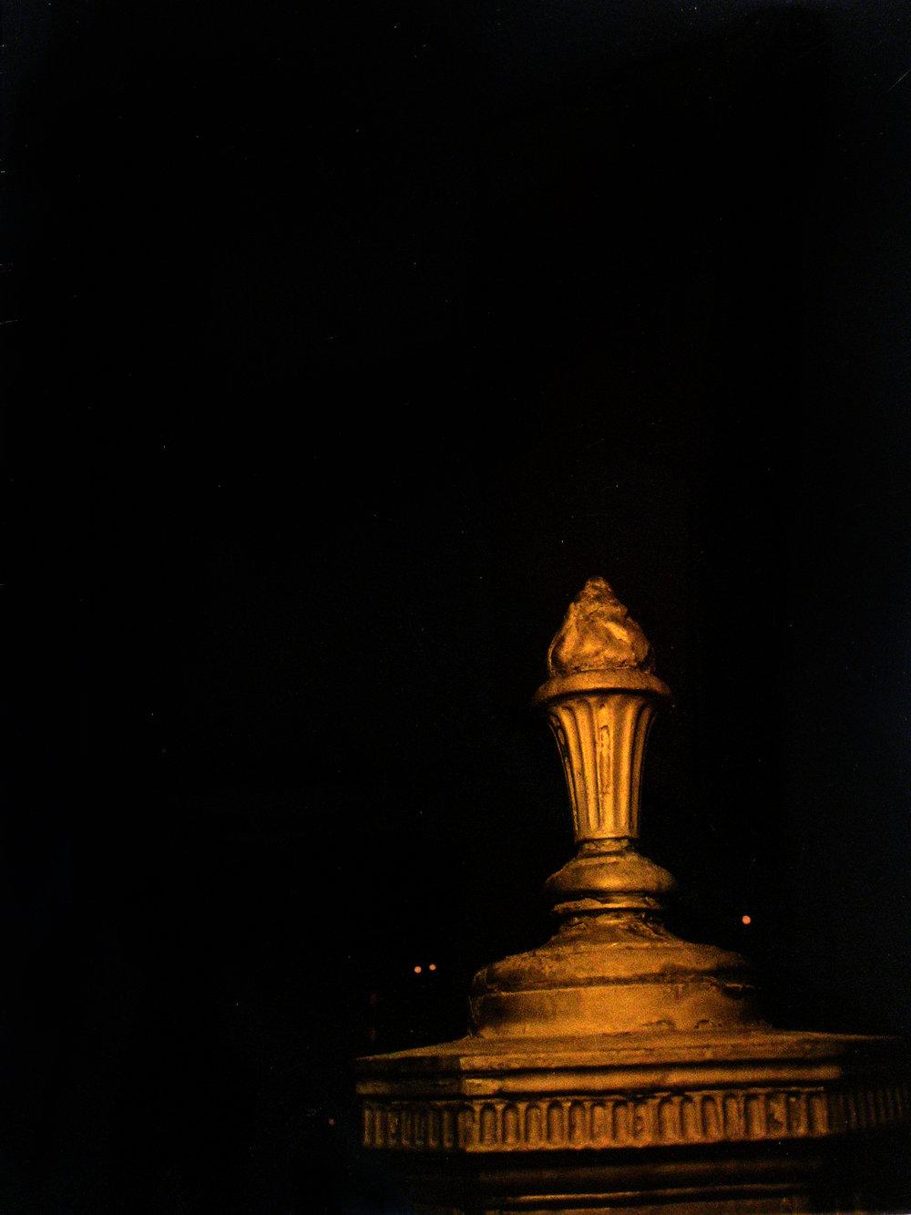 "Carl Goldhagen   (BIO) ,   Call Box  , 1996, photo emulsion on gold plated copper 1/5, 14"" x 11"""