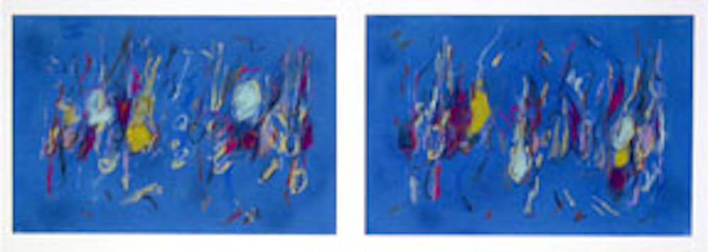 "Nelson, Fredrick  (BIO)     Mantra Revisited,   2004 pastel on rag paper , 16 1/2"" x  40"""