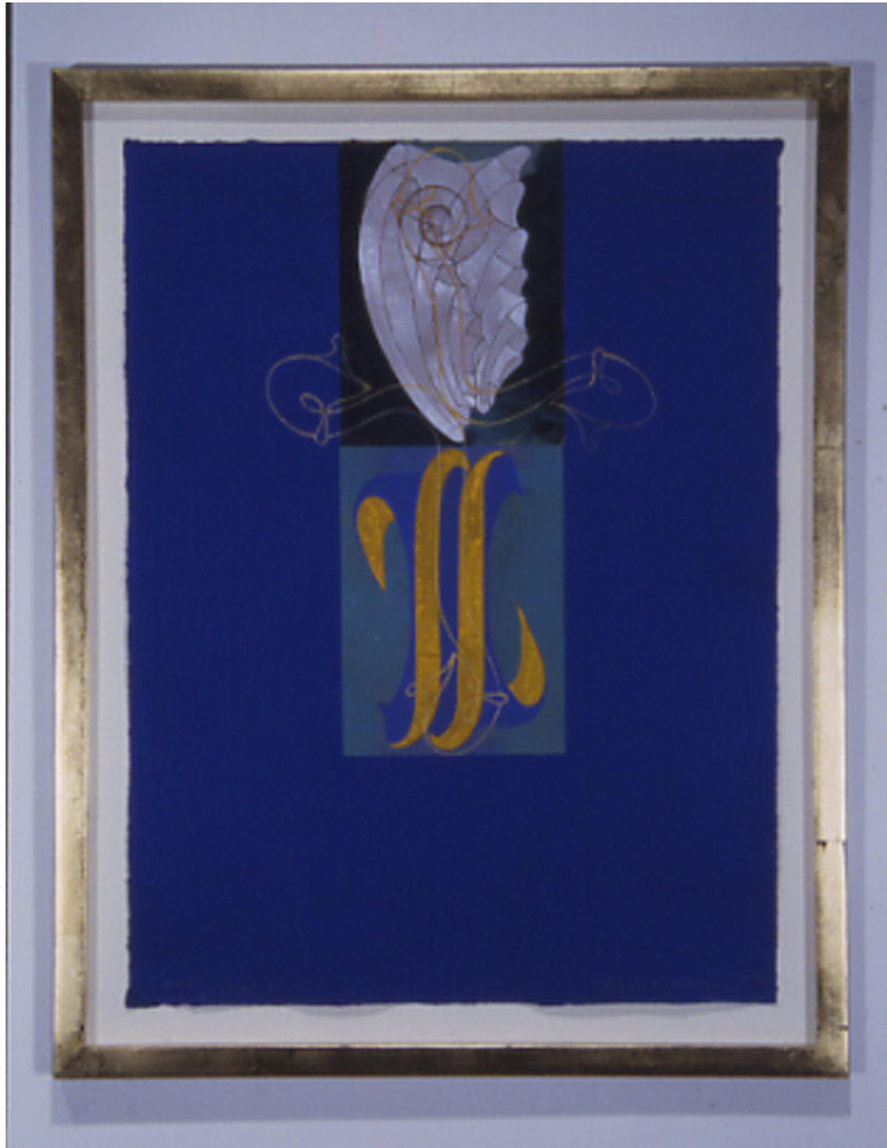 "Sorman, Steven  (BIO)    Well now     iv,    2002 gouache, acrylic, collage on Indian watercolor paper 27 7/8 "" x 21 3/4"""