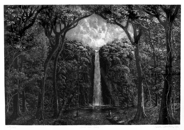 """Tomas Sanchez """"Uno en Dos,"""" 2006 etching, 38/40 21 3/4' x 27 3/4"""""""