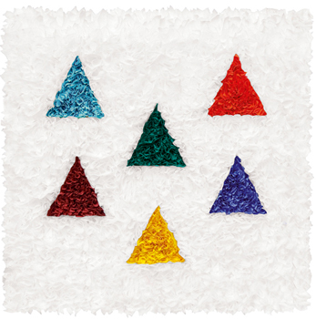 "LORE BERT ""Bunte Dreiecke (Coulered Triangles),""  2009, 6/14"