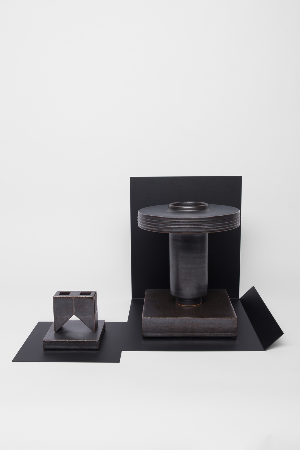 Studio Objects in Black (w/black tray)
