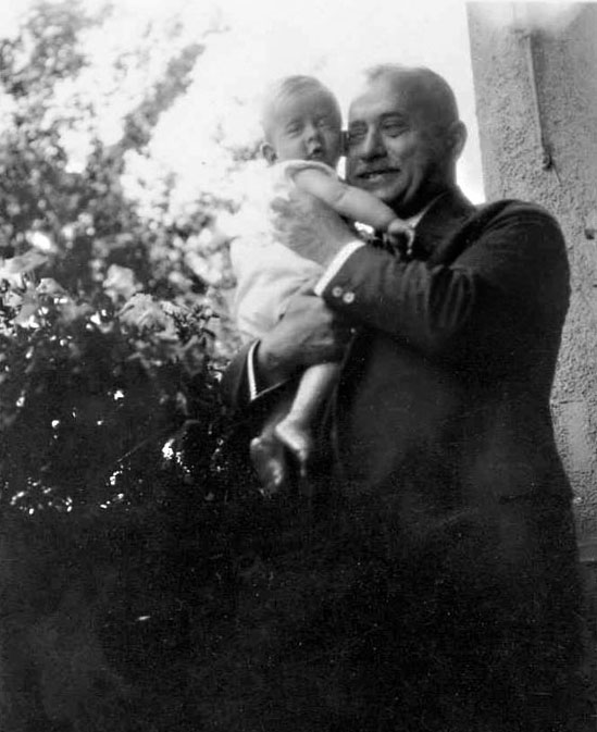 Irene's brother Werner with their grandfather, Julius Mayer or Opa as he was called by the grandchildren.