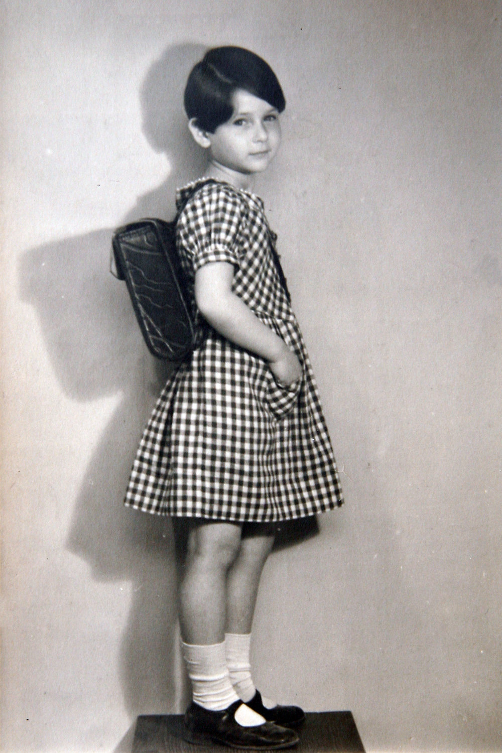 Irene in first grade in Berlin, 1936.