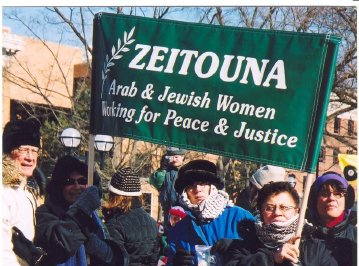 Zeitouna participates in 2008 Ann Arbor peace march.