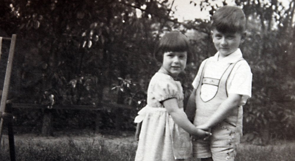 Irene Hasenberg and her brother Werner, circa 1933.