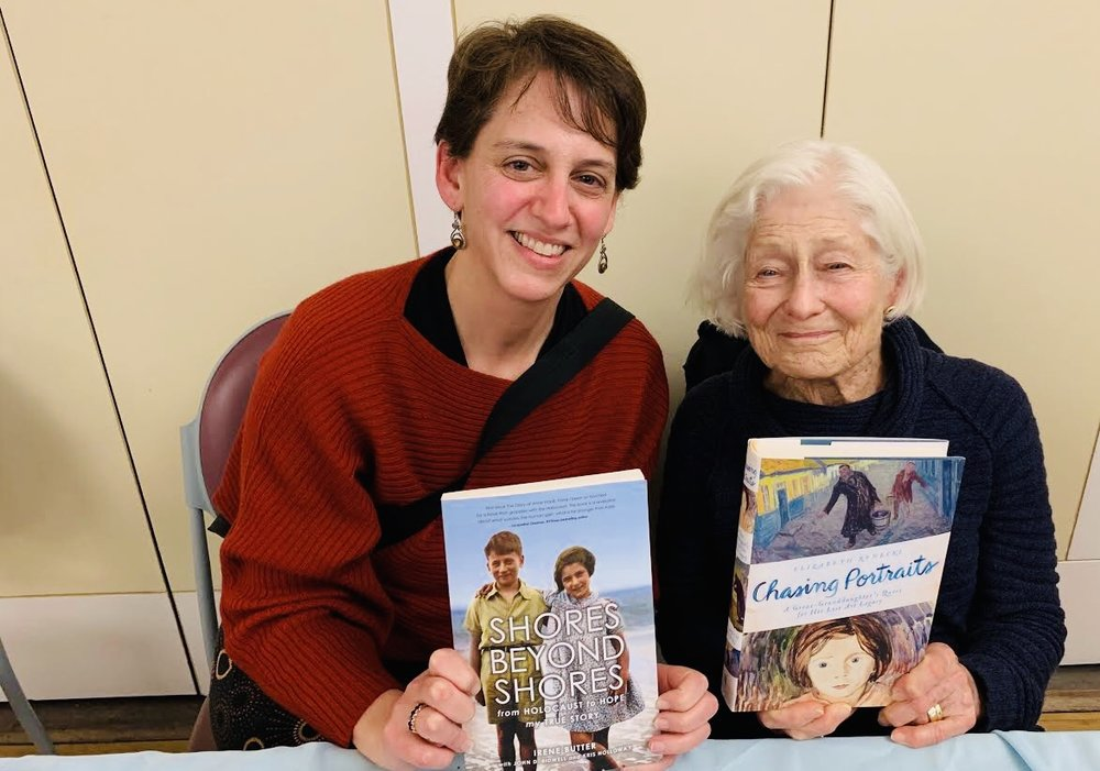 February 10, 2019:  Irene with Bay Area author and film-maker Elizabeth Rynecki, creator of   Chasing Portraits .