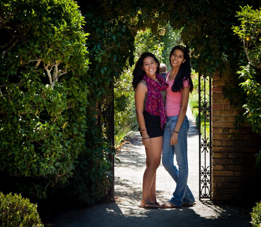 My beautiful models, Shayda and Shanaya.