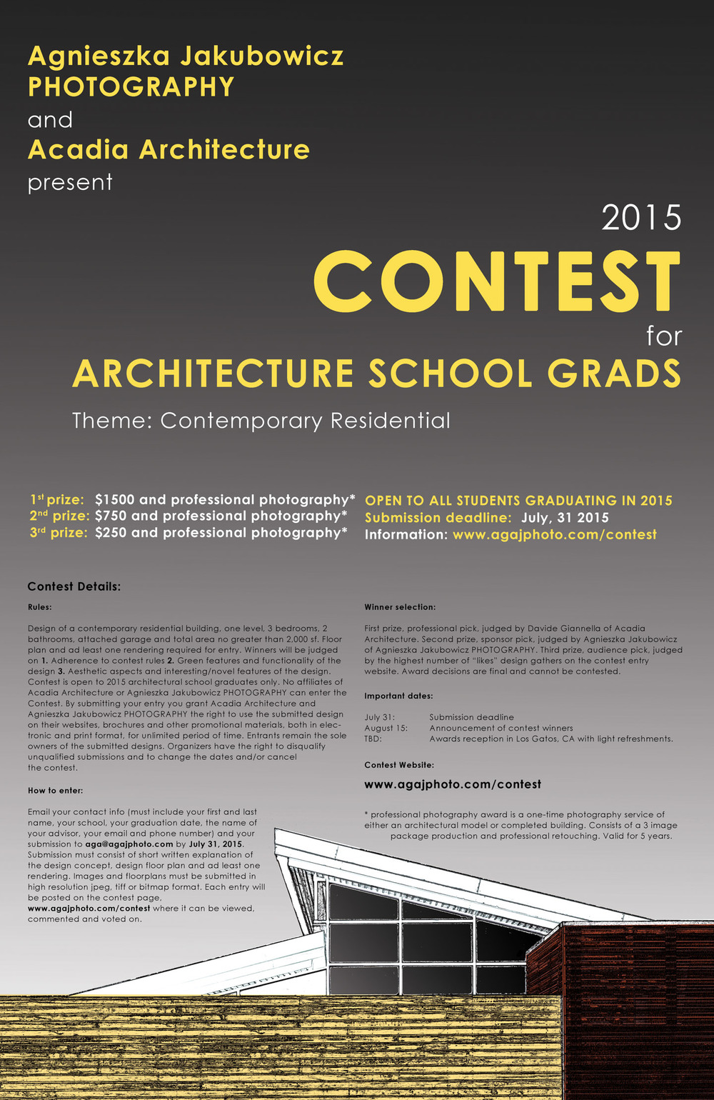 2105 Contest for Architecture School Grads Poster
